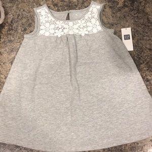 18-24 month Baby Gap heather grey dress w/lace